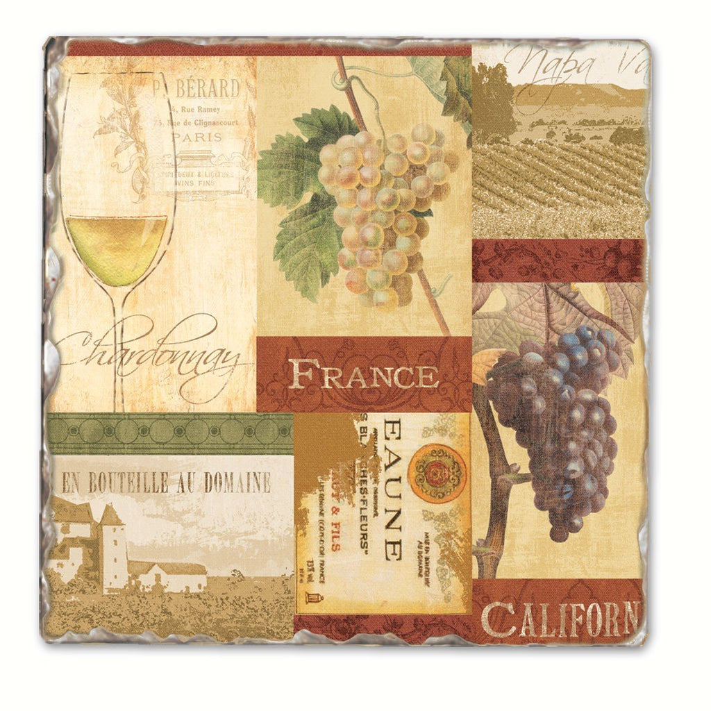 Wine Valley Single Tumbled Tile Coaster - Momma's Home Store