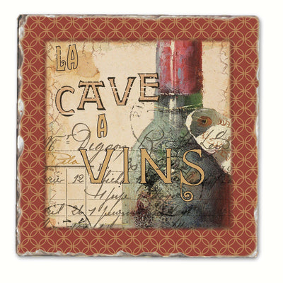French Cellar Single Tumbled Tile Coaster - Momma's Home Store