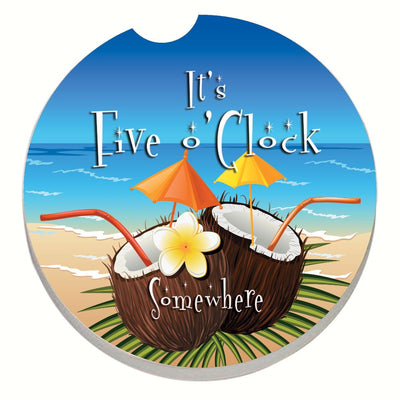 Five O'Clock Coconuts Car Coaster - Momma's Home Store