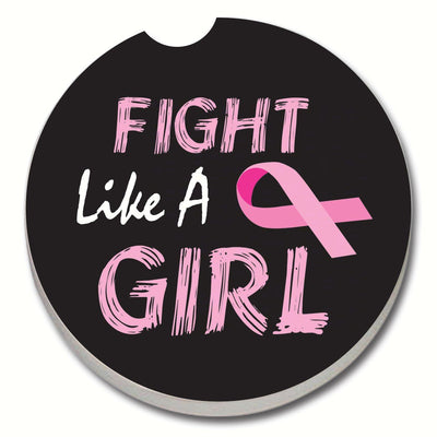 Fight Like a Girl Car Coaster - Momma's Home Store