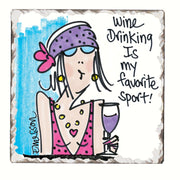 Favorite Sport Single Tumbled Tile Coaster - Momma's Home Store