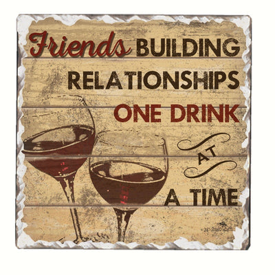 Friends Building Single Tumbled Tile Coaster - Momma's Home Store