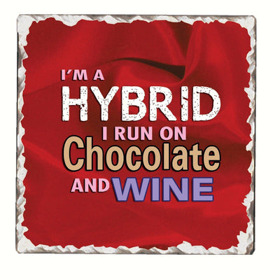 I'm a Hybrid Single Tumbled Tile Coaster - Momma's Home Store