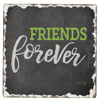 Friends Forever Single Tumbled Tile Coaster - Momma's Home Store