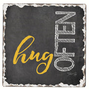 Hug Often Single Tumbled Tile Coaster - Momma's Home Store