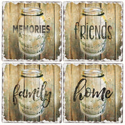 Family Time Tumbled Tile Coasters Set of 4 - Momma's Home Store
