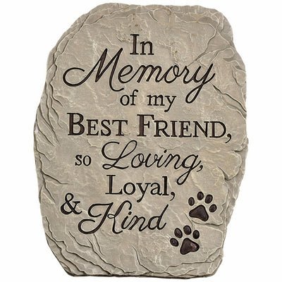 Loyal & Kind Memorial Garden Stone