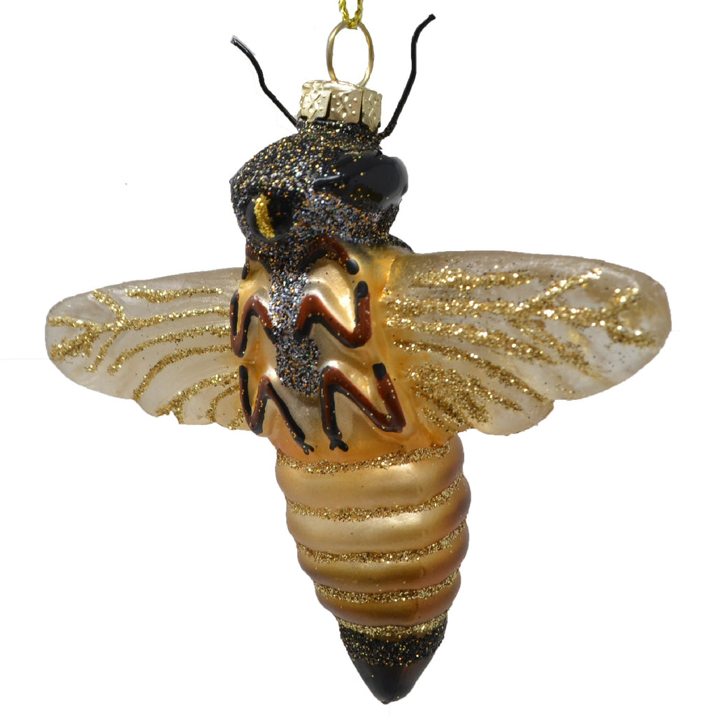 Honeybee Glass Ornament