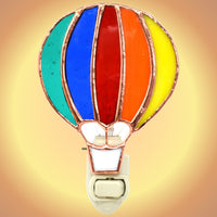 Hot Air Balloon Stained Glass Night Light
