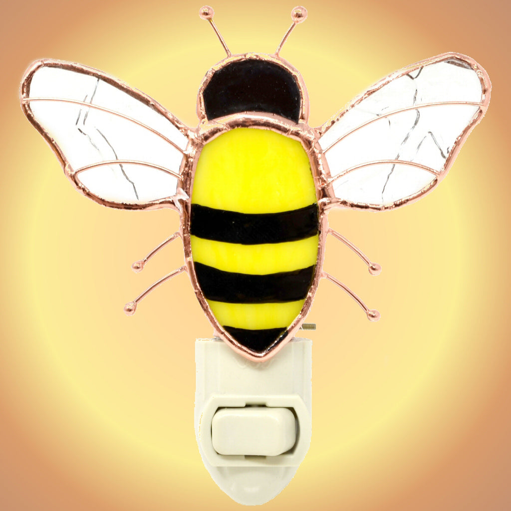 Bee Stained Glass Night Light