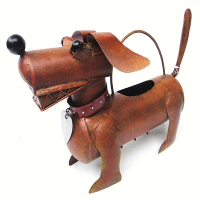 Dachshund Watering Can Sculpture