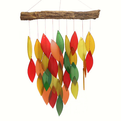 Fall Colors Waterfall Wind Chime