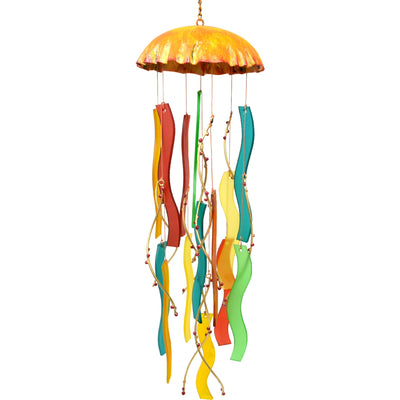 Coral Jellyfish Glass Wind Chime