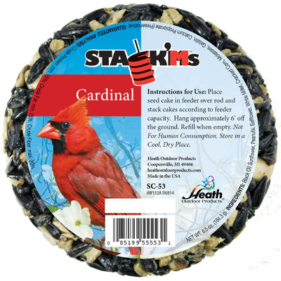 Cardinal Stack'Ms Bird Seed Cake