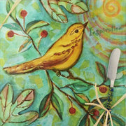 Cheese Board - Bird - Inspiration - Square 9 Inch - Momma's Home Store