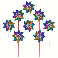 Rainbow Whirl Pinwheel 8PC - Momma's Home Store