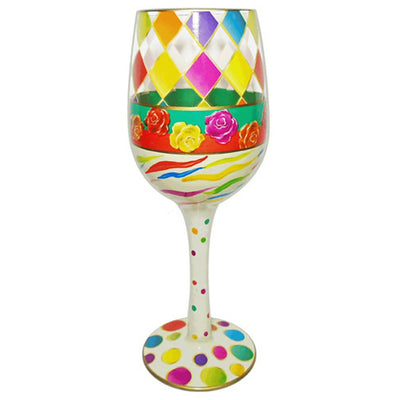 Diamonds Wineglass