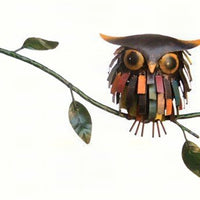 Spiky Owl Kinetic Balancer Garden Stake