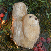 Maltese Dog Bristle Brush Ornament