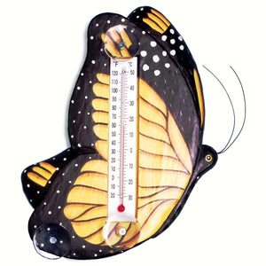 Monarch Butterfly Window Thermometer Small