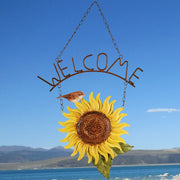 Birds of a Feather Sunflower Welcome Sign