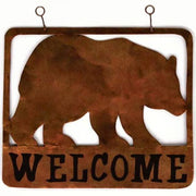 Bear Metal Hanging Welcome Sign