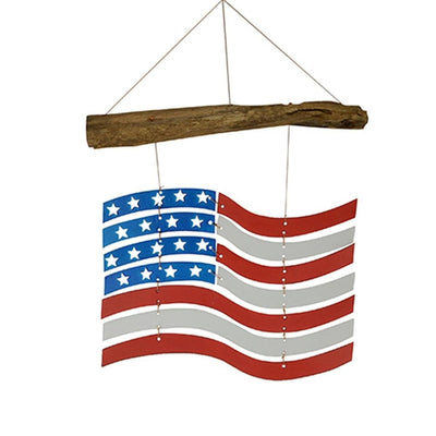 American Flag Glass Garden Mobile