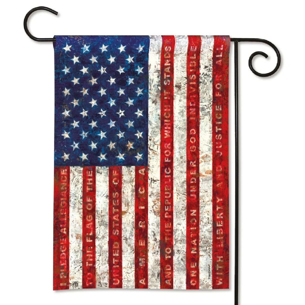 Pledge of Allegiance Garden Flag