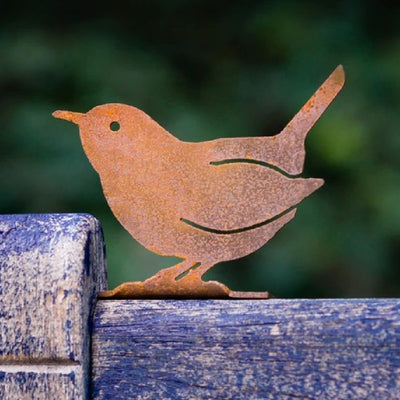 Carolina Wren Steel Garden Sculpture
