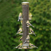 "Quick Clean Nyjer Bird Feeder - 20"" Antique Brass"