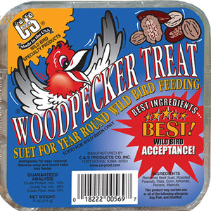 Woodpecker Treat Suet Cake 11 oz - 3 pack - Momma's Home Store