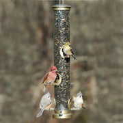 "Quick Clean Tube Bird Feeder - 20"" Antique Brass - Momma's Home Store"