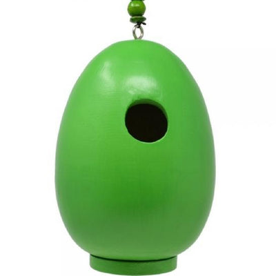 Giant Green Egg Wooden Birdhouse