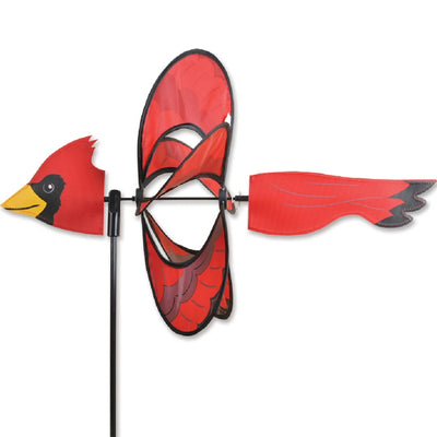 Cardinal Whirly Wing Wind Spinner 19 inch