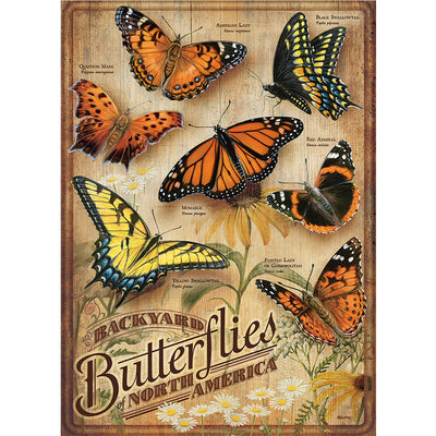 Backyard Butterflies 500 Piece Puzzle