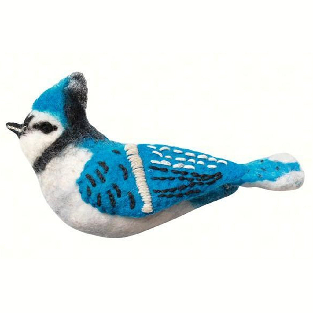 Blue Jay Wool Ornament