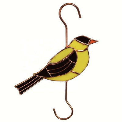 Goldfinch Stained Glass Hanging Hook