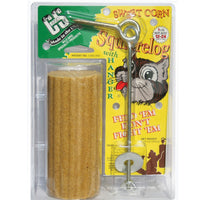 Sweet Corn Squirrelog w/Hanger
