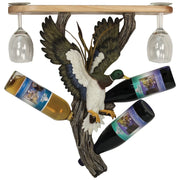 Duck Wine Bottle/Glasses Holder Shelf
