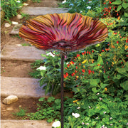 Birdbath/Bird Feeder Ground Stake - Red