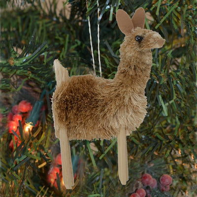 Llama Bristle Brush Ornament