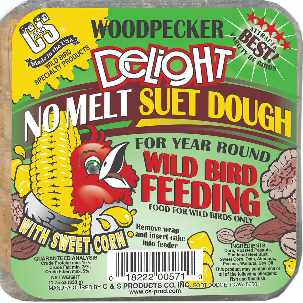 Woodpecker Delight No Melt Suet Dough - 3 pk