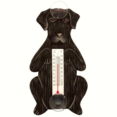 Black Lab Window Thermometer Small