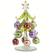 Glass Tree w/Bejeweled Ornaments 6 inch