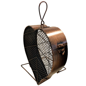 Copper Leaf Mesh Bird Feeder