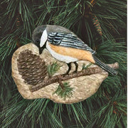 Chickadee Pine Cone Tree Ornament