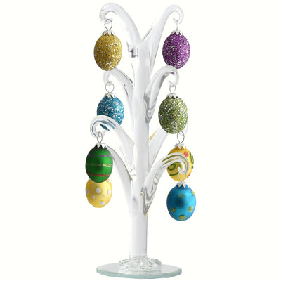 Glass Tree w/Egg Ornaments 8 inch
