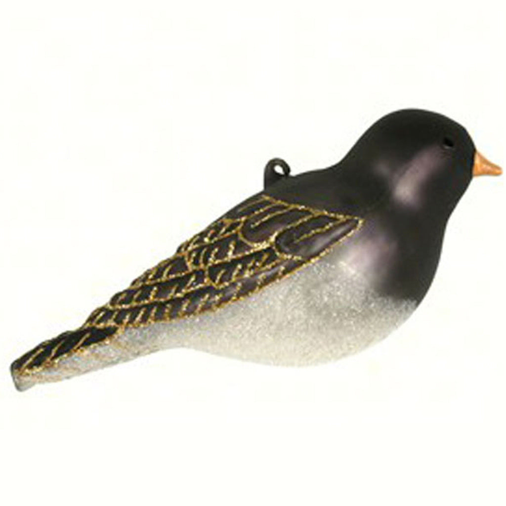 Dark Eyed Junco Glass Ornament