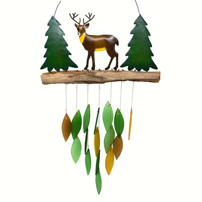 Deer Glass & Driftwood Wind Chime
