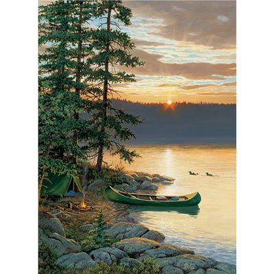 Canoe Lake 500 Piece Jigsaw Puzzle
